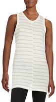 DKNY Striped Sleeveless Tunic