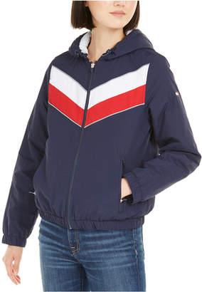 Tommy Hilfiger Varsity-Stripe Hooded Jacket