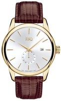 Movado ESQ by Watch, Men's Swiss Chronicle Brown Teju Lizard Embossed Leather Strap 07301372