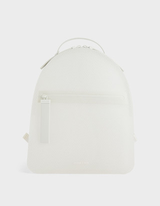 Charles & Keith Front Zip Backpack