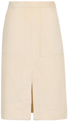 By Ti Mo Corduroy Cotton Pencil Skirt