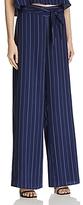 Aqua Stripe Tie Waist Wide Leg Pants - 100% Exclusive