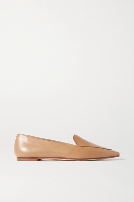 AEYDĒ Aurora Leather Loafers - Tan