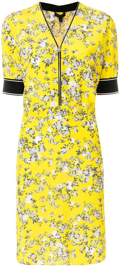 Rag & Bone floral print zip front dress