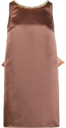 Elisabetta Franchi Bow-Detail Shift Dress