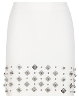 David Koma Embellished crêpe skirt
