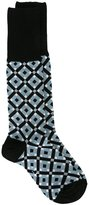 Marni Tracery intarsia socks - women - Cotton/Nylon - M
