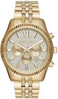Michael Kors 44mm Lexington Chronograph Glitz Bracelet Watch