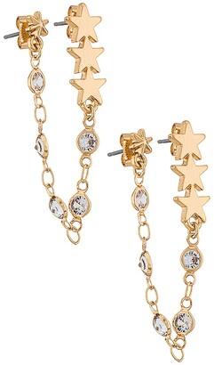 Ettika Dangle Chain Earrings
