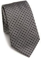 Armani Collezioni Circle Square Silk Tie
