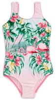 Seafolly Toddler Girl's Hawaiian Rose One-Piece Swimsuit