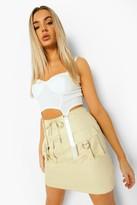 Thumbnail for your product : boohoo Utility Pocket Cargo Mini Skirt