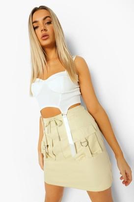 boohoo Utility Pocket Cargo Mini Skirt