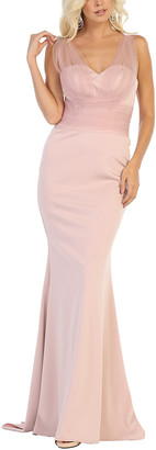 MayQueen Women's Special Occasion Dresses Blush - Blush Tulle-Strap Gown & Shawl - Women