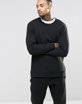 Calvin Klein Lounge Top Quilted In Slim Fit