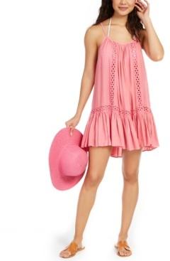 Raviya Crochet-Trim Cover-Up Dress Women's Swimsuit