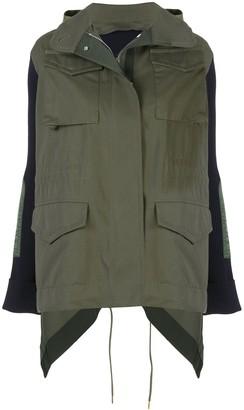 Sacai Oversized Panelled Parka Coat