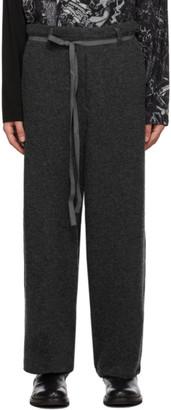 Yohji Yamamoto Grey Wool Knit Trousers