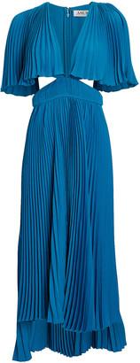 AMUR Dara Pleated Cut-Out Dress