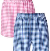 Charles Tyrwhitt Pink and blue gingham 2 pack boxers