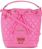 Love Moschino quilted drawstring crossbody bag - women - Polyurethane - One Size