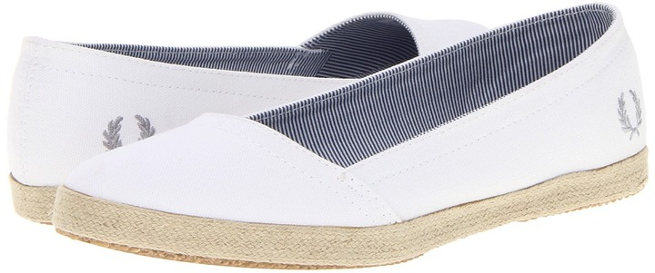 Fred Perry Booker Washed Canvas/Espadrille (White) - Footwear