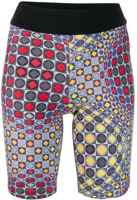 NO KA 'OI Printed Biker Shorts