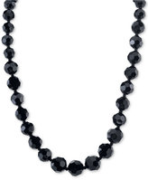 2028 Night Shade Black Graduated Bead Long Necklace