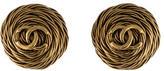 Chanel CC Rope Earrings