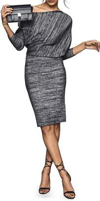 Reiss Verity One-Shoulder Long Sleeve Dress