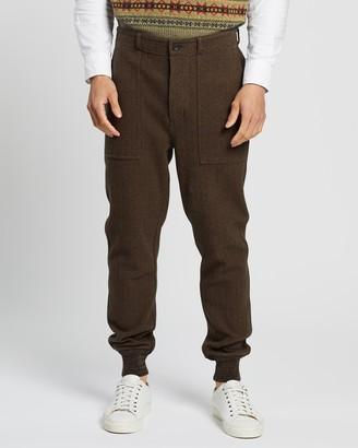 Ralph Lauren RRL Knit-Trim Jacquard Trousers