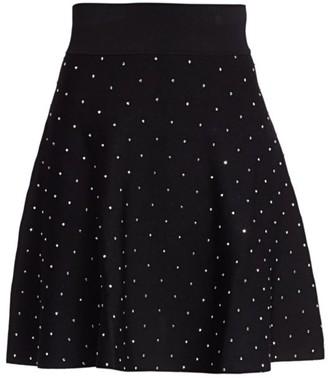 The Kooples Studded Knit A-Line Skirt