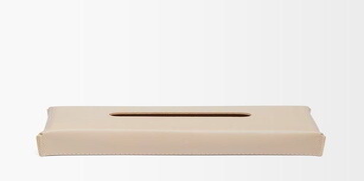 Rabitti 1969 - Amsterdam Leather Tissue Box - Cream