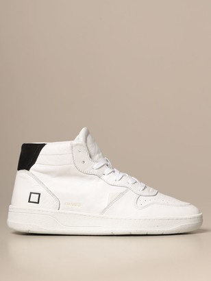 D.A.T.E Court Mid Vintage Sneakers In Leather