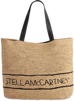 Stella McCartney Logo Raffia Tote Bag