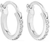 Ileana Makri 18-karat White Gold Diamond Hoop Earrings - one size