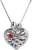 Loving Family Sterling Silver Birthstone Crystal Heart Locket