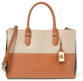 Lauren Ralph Lauren Newbury Colorblock Double-Zip Satchel