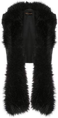 Comme Des Garçons Pre Owned 1989 Faux Fur Stole Vest