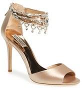 Badgley Mischka Women's 'Denise' Crystal Embellished Ankle Strap Sandal