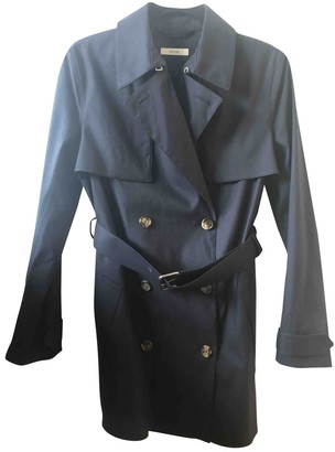Celine Navy Cotton Trench Coat for Women