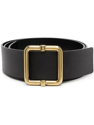 Gucci Pre-Owned 2000s Square Buckle Belt