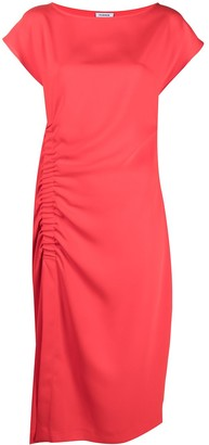 P.A.R.O.S.H. Ruched Side Satin Dress