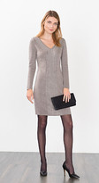Esprit OUTLET knitted dress w shimmering cable pattern