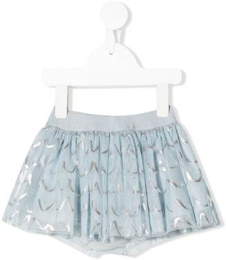 Stella Mccartney Kids Foil Scalloped-Print Tutu