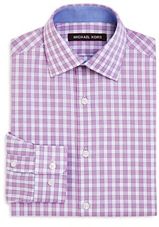 Michael Kors Boys' Cotton Check Dress Shirt - Big Kid