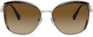 Bvlgari Serpenti square metal sunglasses