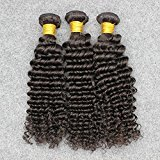 Vinsteen Brazilian Human Hair 3 Bundles Deep Wave 8'' to 30'' Natural Color Thick and Full Can Be Dyed No Shedding (8 10 10)