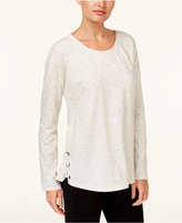 Style&Co. Style & Co Lace-Up Sweatshirt, Created for Macy's