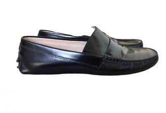 Tod's Gommino Black Patent leather Flats